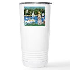 Bassin/Shih Tzu (P) Ceramic Travel Mug