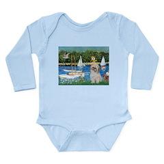 Bassin/Shih Tzu (P) Long Sleeve Infant Bodysuit