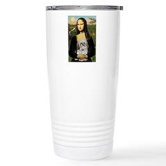 Mona Lisa/Shih Tzu (P) Stainless Steel Travel Mug