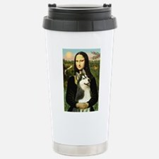 Mona Lisa & Siberian Husky Travel Mug