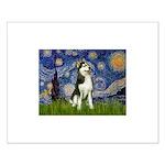 Starry Night & Husky Small Poster