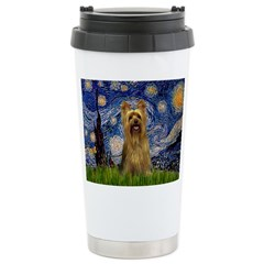 Starry Night / Silky T Stainless Steel Travel Mug