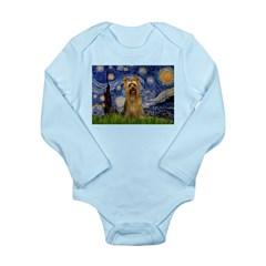 Starry Night / Silky T Long Sleeve Infant Bodysuit