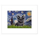 Starry / Black Skye Terrier Small Poster