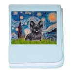 Starry / Black Skye Terrier baby blanket