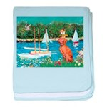 Sailboats / Vizsla baby blanket