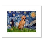 Starry Night / Vizsla Small Poster