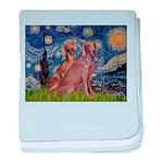 Starry / 2 Weimaraners baby blanket