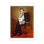 Lincoln's Corgi (Bl.M) Mini Poster Print