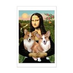 Mona / Corgi Pair (p) Mini Poster Print
