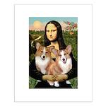 Mona / Corgi Pair (p) Small Poster