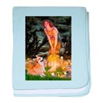 Fairies & Corgi baby blanket