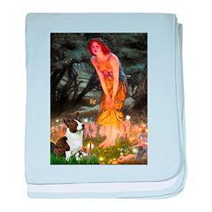 Fairies / Welsh Corgi baby blanket
