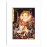 Queen / Welsh Corgi Small Poster
