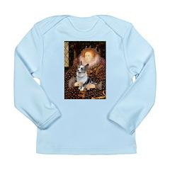 The Queen's Corgi (Bl.M) Long Sleeve Infant T-Shir