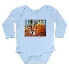 Room / Corgi pair Long Sleeve Infant Bodysuit