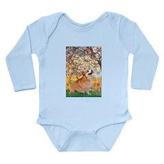Spring / Corgi Long Sleeve Infant Bodysuit