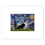 Starry Night / Welsh Corgi(bi Small Poster
