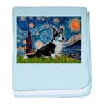 Starry Night / Welsh Corgi(bi baby blanket