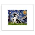 Starry Night / Welsh Corgi Small Poster