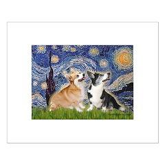 Starry Night / Corgi pair Posters