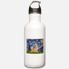 Starry Night Corgi Water Bottle