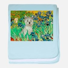 Irises / Westie baby blanket