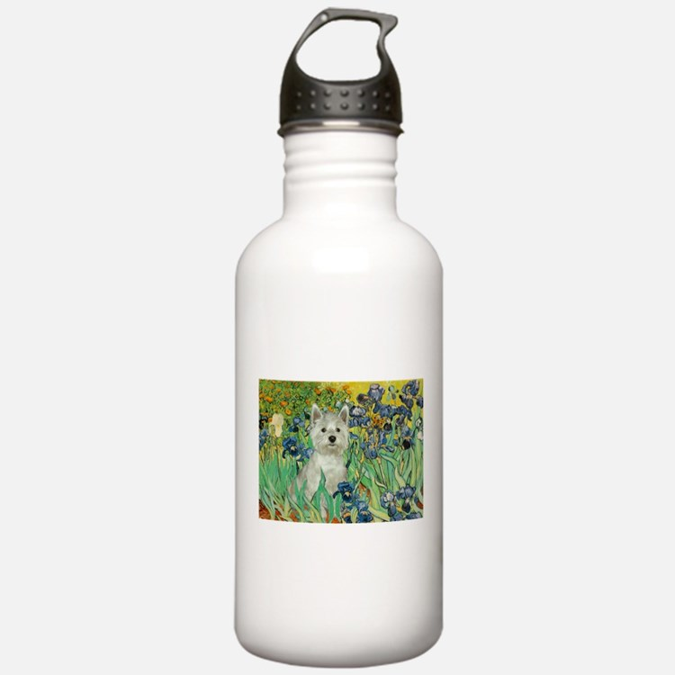 Irises / Westie Water Bottle