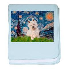 Starry Night/Westie baby blanket
