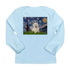 Starry Night/Westie Long Sleeve Infant T-Shirt