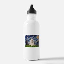 Starry Night/Westie Water Bottle