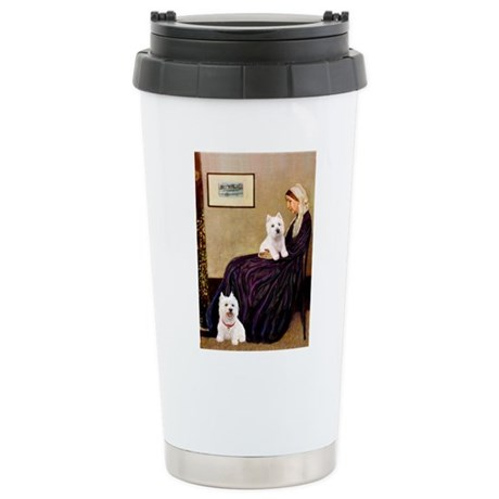 Whistlers Mom/2 Westies Stainless Steel Travel Mug