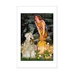 Fairies & Wheaten Terrier Mini Poster Print