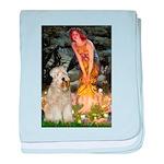 Fairies & Wheaten Terrier baby blanket