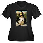 Mona's Wheaten Women's Plus Size V-Neck Dark T-Shi