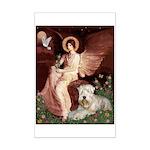 Seated Angel & Wheaten Mini Poster Print