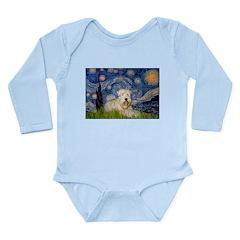 Starry / Wheaten T #1 Long Sleeve Infant Bodysuit