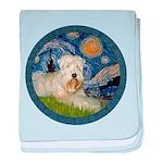 Starry / Wheaten (#1W) baby blanket
