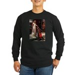 Princess & Wheaten Long Sleeve Dark T-Shirt