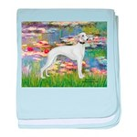 Lilies & Whippet baby blanket
