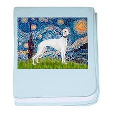 Starry Night / Whippet baby blanket