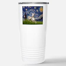 Starry Night Whippet Travel Mug