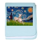 Starry Night Whippet baby blanket