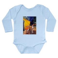Cafe & Whippet Long Sleeve Infant Bodysuit