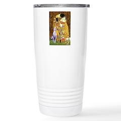 Kiss & Whippet Stainless Steel Travel Mug