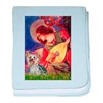 Mandolin Angel & Yorkie (T) baby blanket