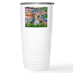 LILIES / Yorkie (T) Travel Mug