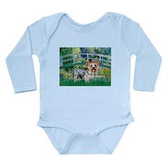Bridge / Yorkie (T) Long Sleeve Infant Bodysuit