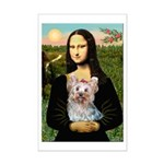 Mona & her Yorkie (T) Mini Poster Print