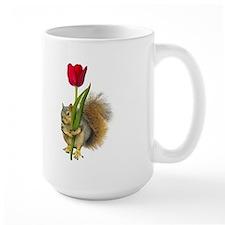 Squirrel Red Tulip Mug